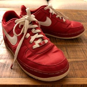 Nike Red Satin Air Force 1 '82